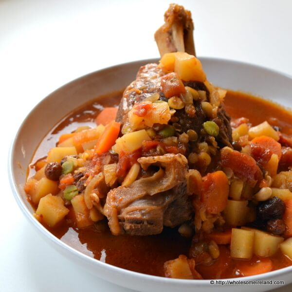 Lamb Shank Tagine With Root Vegetables