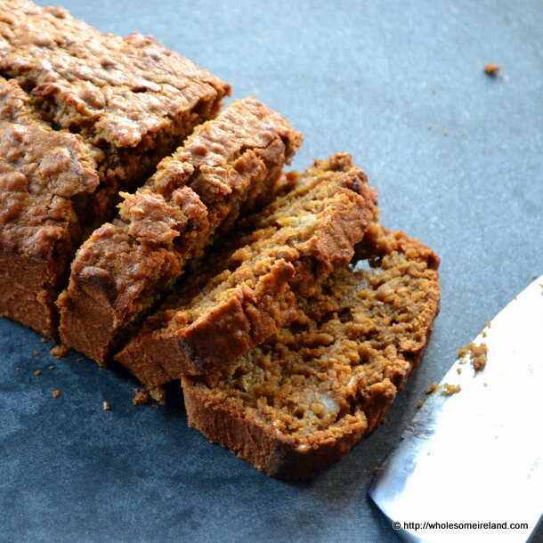 Treacle Ginger Oat Banana Bread from Wholesome Ireland