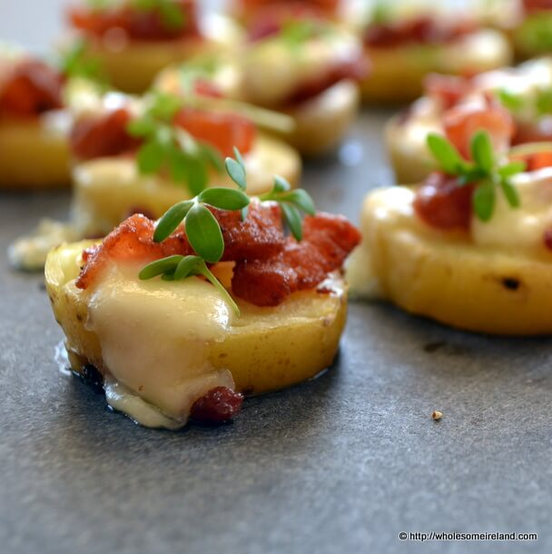 Potato &amp; Bacon Canape - Wholesome Ireland - Irish Food &amp; Parenting Blog