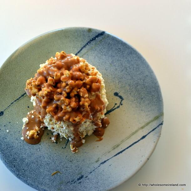 Salted Caramel Popcorn Cake from Wholesome Ireland - Irish Food & Parenting Blog