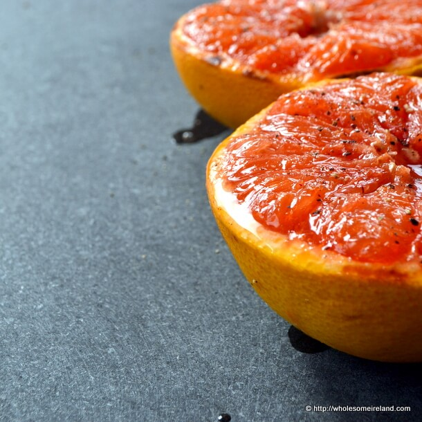 Grilled Grapefruit with Black Pepper from Wholesome Ireland - Irish Food &amp; Parenting Blog