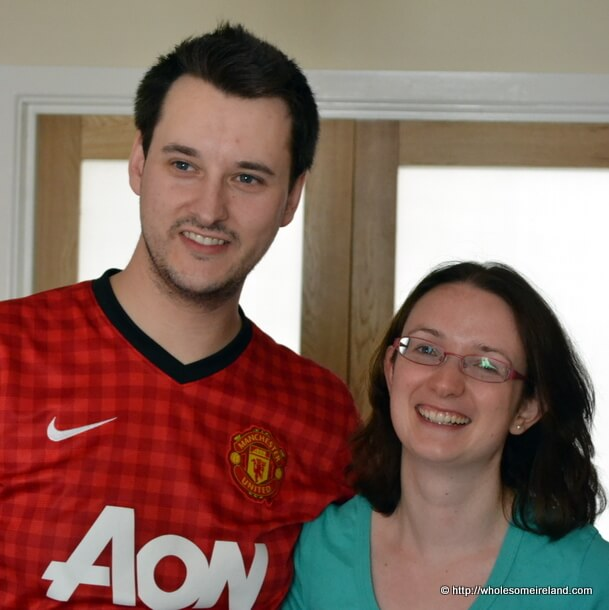Simon & my sister, Aoife. We'll forgive him for supporting this team.