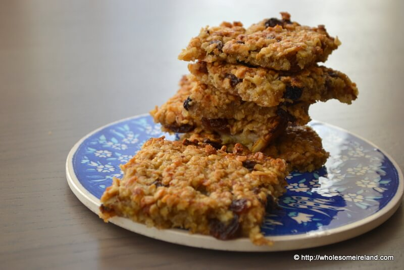Chewy Fruit Flapjacks - Wholesome Ireland - Food & Parenting Blog
